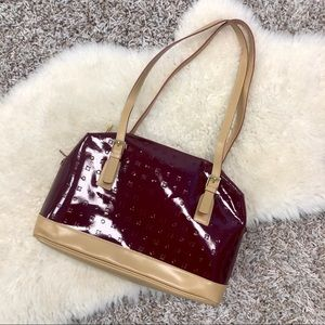Arcadia Two-Tone Patent Leather Bag